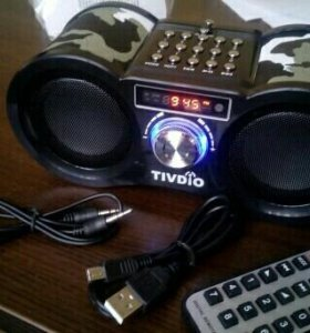 Vivdio v114 радио приемник с пультом, NEW+гарантия
