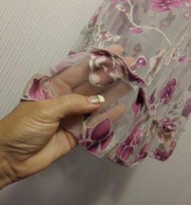 Пенюар прозрачный розовый