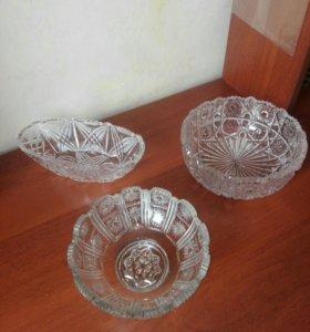 Хрустальная ваза круглая