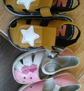 Детская обувь б/у три пары