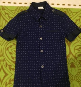 Рубашка для мальчика. На 7-8 лет