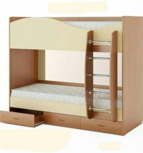 Новая 2х ярусная кровать