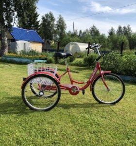 Велосипед грузовой трехколёсный