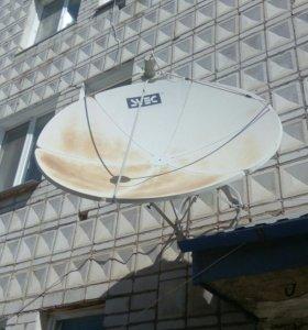 Спутниковая тарелка с приставкой