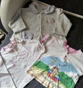 Кофта, футболки. 2-3 года