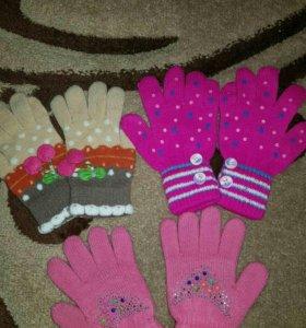 Перчатки детские на 5-7лет