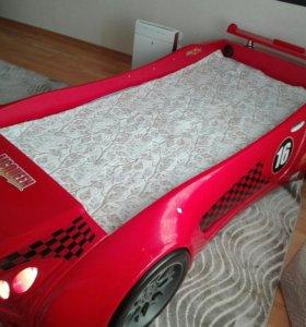 Детская кровать-машина с матрасом (без музыки)