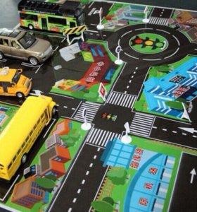 Детский коврик с дорогами