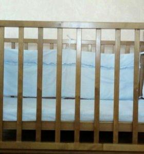 Кровать-качалка (бортики, матрасик в подарок)