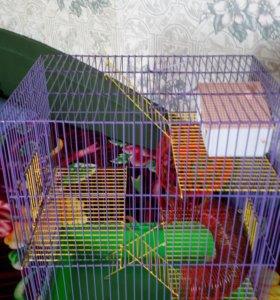 Клетка для хомячков 3хэтажная