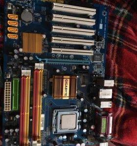 Материнская плата gigabyte с процессором и видюхой