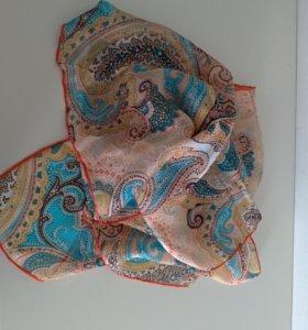 Женский шелковый шейный платок.Италия(Флоренция)
