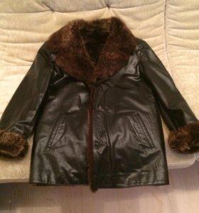 Куртка кожаная с мехом из тосканы