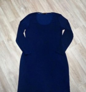 Платье новое темно синее.