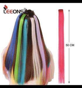 Прядки розовых волос (2штуки)