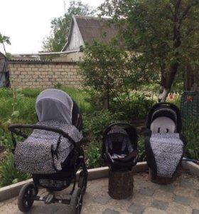 Детская коляска zipy baby mers 3 в 1. Торг
