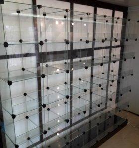 Стеклянные витрины-кубы для конфет и другого