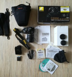 Nikon D3200 kit AF-S 18-105 мм VR DX+подарок