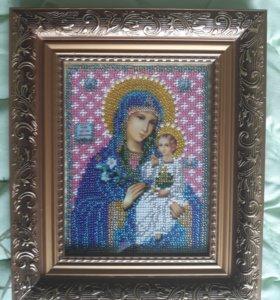 Икона Божья Матерь: Неувядаемый Цвет 12х16