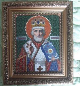 Икона Николай Чудотворец 19х24