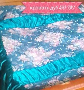 Кровать дерево дуб 180/190