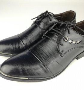 Туфли мужские (новые, иск.кожа)
