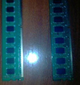 Оперативная память 2 планки (разные по 2 Gb) DDR3