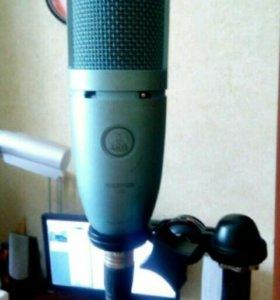 Микрофон akg 120,звуковая карта m audio