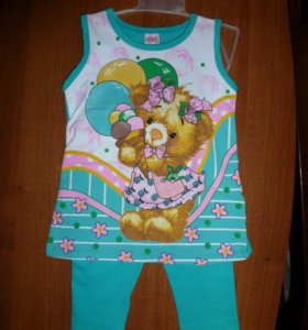 Новый костюм на девочку на рост 86-92; 98-104