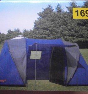 Кемпинговая четырехместная палатка с доставкой