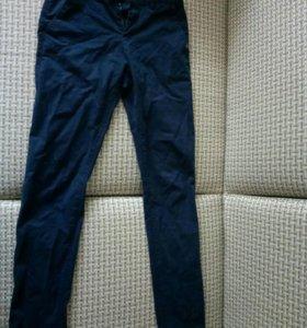 Чиносы(штаны). Slimfit, синего цвета. Размер L