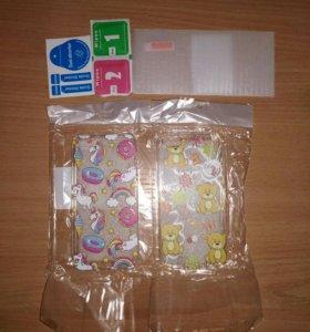 2 бампера и защитное стекло на iPhone 5