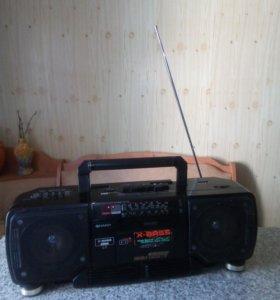 Двух кассетная магнитола Sharp WQ-T238