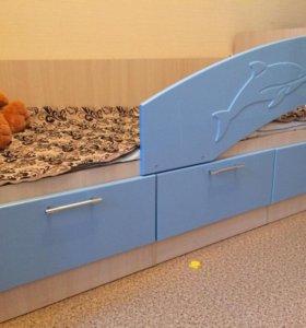 Детская кровать-дельфин 80*1800