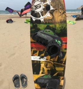 Кайтборд slingshot vision 138×42 с ботинками