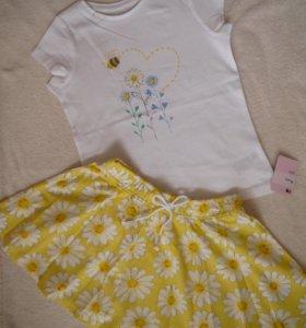 новый набор mothercare 104 4 года юбка футболка