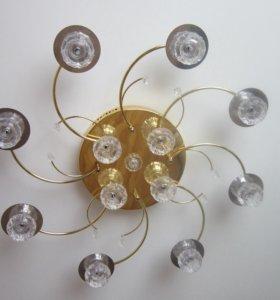 Комплект Потолочная люстра с пультом ДУ и две бра