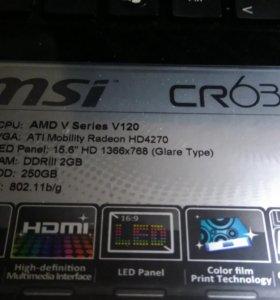 Ноутбук MSI CR 630