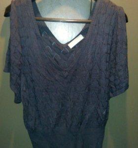 Блуза ажурная р. 48-52