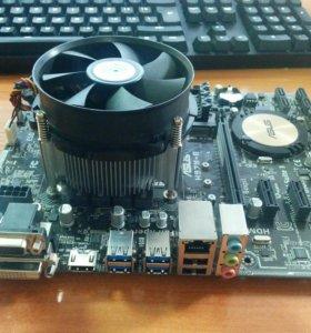 Intel Core I5-4690 + Asus h97m-e + cooler