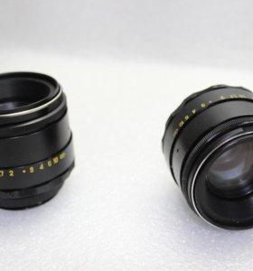 Два объектива Гелиос 44-2