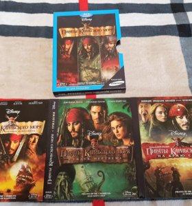 3 Blu-ray - Пираты карибского моря. Трилогия