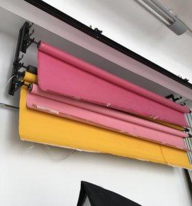 Цветные бумажные фоны с креплением