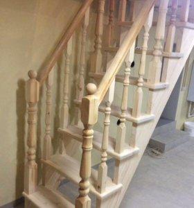 Материал из сосны для изготовления лестницы