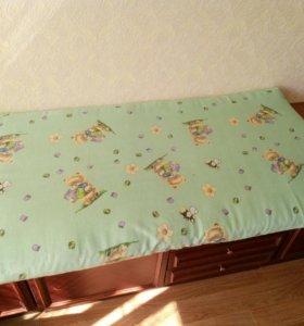 Матрац для детской кроватки. Кокос и поролон.,