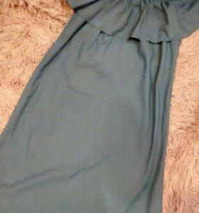 Новое легкое джинсовое платье