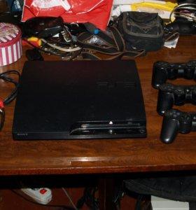 Sony PlayStation 3 (500GB) + 3 гэймпада