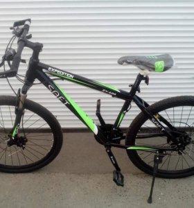 Велосипед SAFT ZY-600. Чёрно-зелёный
