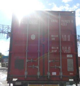 Морской сухогрузный контейнер № kkfu 15262146 40ф