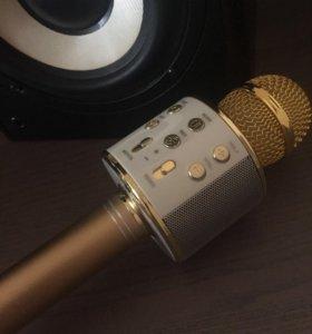 Микрофон для караоке с колонкой WS 858
